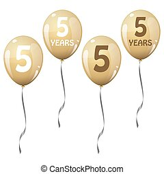 golden jubilee balloons - four golden jubilee balloons for 5...
