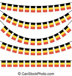 garlands with belgium national colors - different garlands...