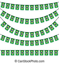 garlands with brazil national colors - different garlands...