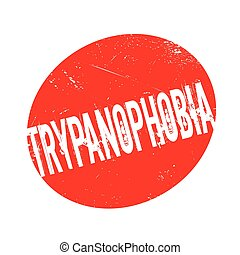 Trypanophobia fear Of Needles rubber stamp. Grunge design...