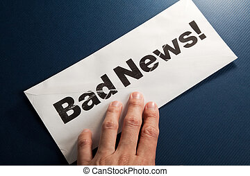 Bad News and envelope, concept of failure
