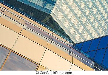 Elements of the facade. Abstract background. - Elements of...