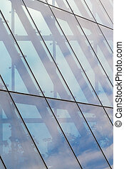 Architecture Background. Glass facade system - Architecture...