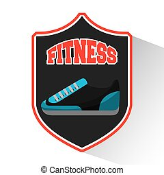 tennis shoes fitness icon vector illustration design