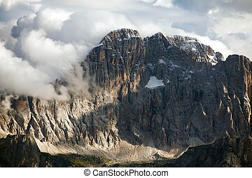 Evening view of Mount Civetta from Col di Lana - one of the...