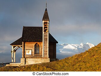 church or chapel on Col di Lana and Mount Marmolada -...