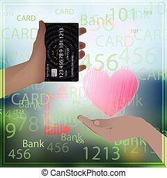 bank card sale love prostitution heart photo background