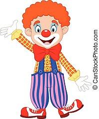 Cartoon funny clown - Vector illustration of Cartoon funny...