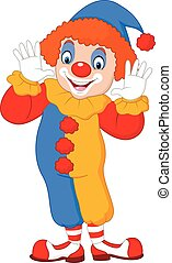 Cartoon funny clown - Vector illustration of Cartoon funny...