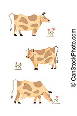 Domestic animal icon - Domestic Animal icon set. Dairy...