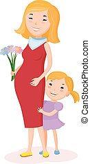 Pregnancy woman and her child