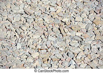 Gravel as background - Close up of gray gravel as background
