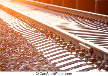 Railway path in perspective