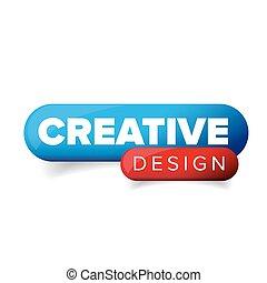 Creative Design button vector isolated