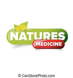 Natures Medicine button vector