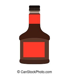 Isolated soy bottle - Isolated bottle of soy sauce on a...