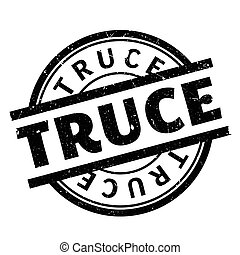 Truce rubber stamp. Grunge design with dust scratches....