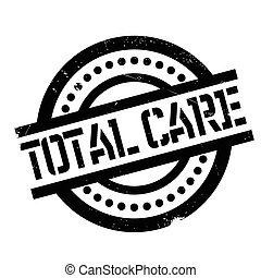 Total Care rubber stamp. Grunge design with dust scratches....