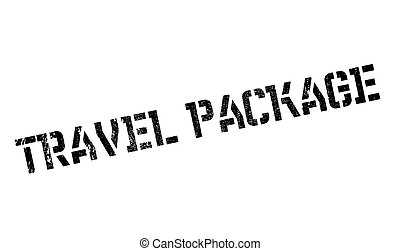 Travel Package rubber stamp. Grunge design with dust...