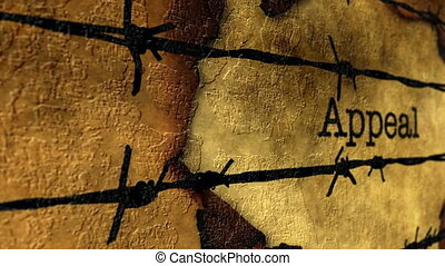Appeal barbwire grunge concept