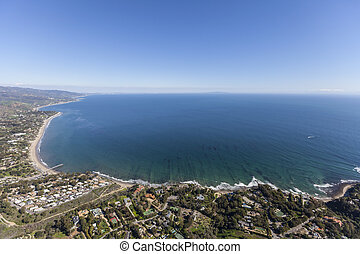Malibu Ocean View - Aerial view of Santa Monica Bay from the...