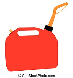 Isolated oil gallon on a white background, Vector...