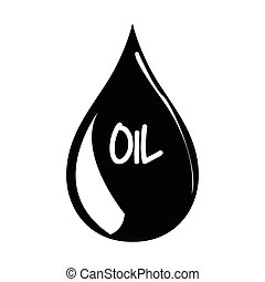 Isolated oil drop on a white background, Vector illustration