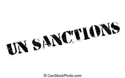 Un Sanctions rubber stamp. Grunge design with dust...