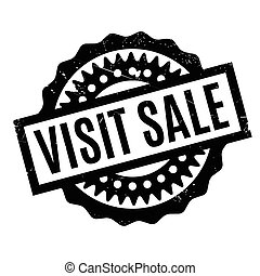 Visit Sale rubber stamp. Grunge design with dust scratches....