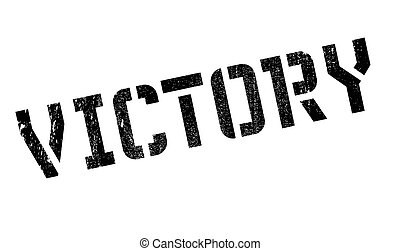 Victory rubber stamp. Grunge design with dust scratches....