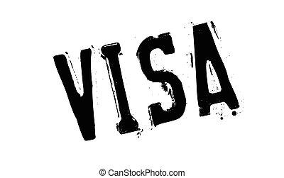 Visa rubber stamp. Grunge design with dust scratches....