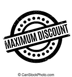 Maximum Discount rubber stamp. Grunge design with dust...
