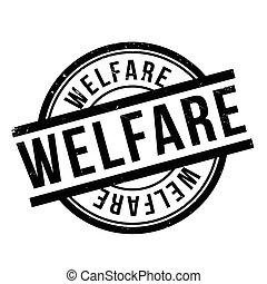 Welfare rubber stamp. Grunge design with dust scratches....