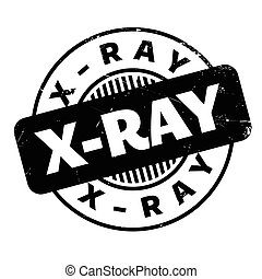 X-Ray rubber stamp. Grunge design with dust scratches....