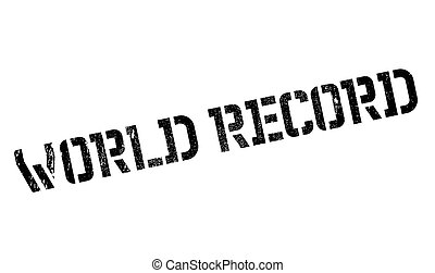 World Record rubber stamp. Grunge design with dust...