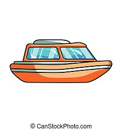 Orange rescue boat.Boat to rescue the drowning persons.Ship...