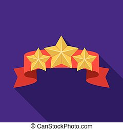 Red ribbon with three stars.Reward a police officer for...