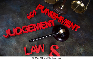 Punishment, Justice concept, Court gavel,Law theme, mallet...
