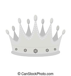 Golden crown with diamonds the winner of the beauty contest.Awards and trophies single icon in monochrome style vector symbol stock illustration.