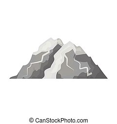 Ice mountain all the cracks.The mountain from which icebergs. Different mountains single icon in monochrome style vector symbol stock illustration.