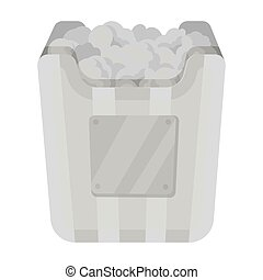Cup in the form of Golden popcorn.The prize of spectator sympathies.Movie awards single icon in monochrome style vector symbol stock illustration.