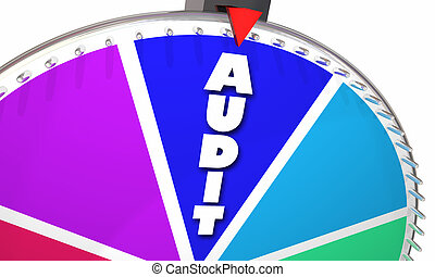 Audit Tax Review Accounting Bookkeeping Game Show Wheel Odds...