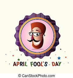 Smiling Face First April Fool Day Happy Holiday Greeting...