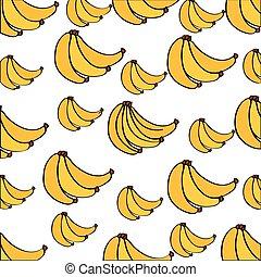 bananas pattern fresh fruit drawing icon