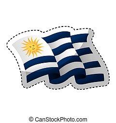 uruguay flag isolated icon vector illustration design