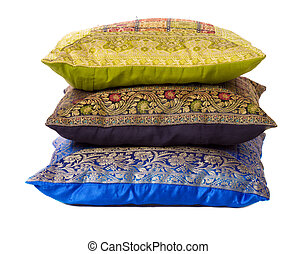 pillows - Three soft pillows lying one above another...