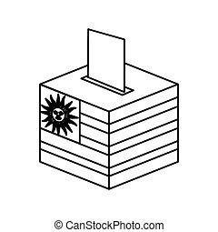 election day uruguay urn vector illustration design