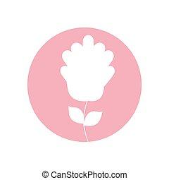 gardenia flower natural icon vector illusration eps 10