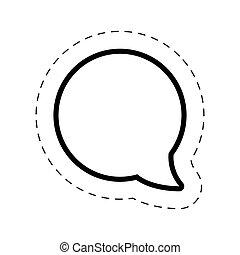 bubble speech round cut line vector illustraiton eps 10