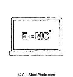 relativity theory equation math icon image vector...